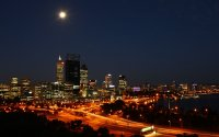 perth at night from kings park